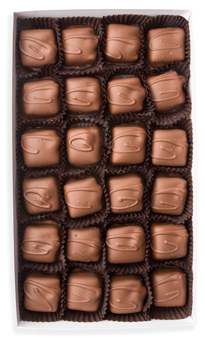 Caramel with almonds (Gregory) covered in milk chocolate