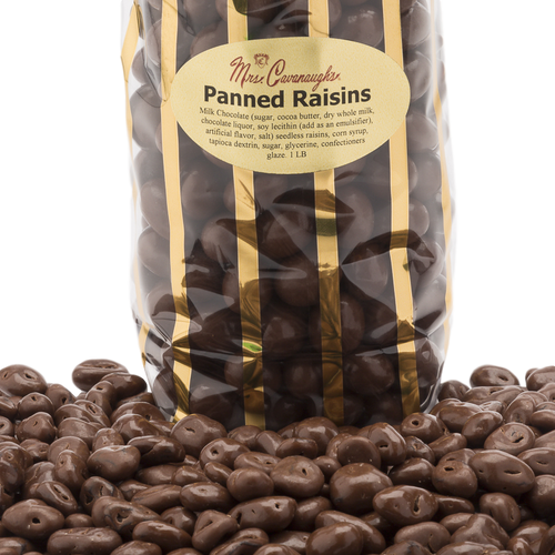 Panned Chocolate Raisins - 1 lb