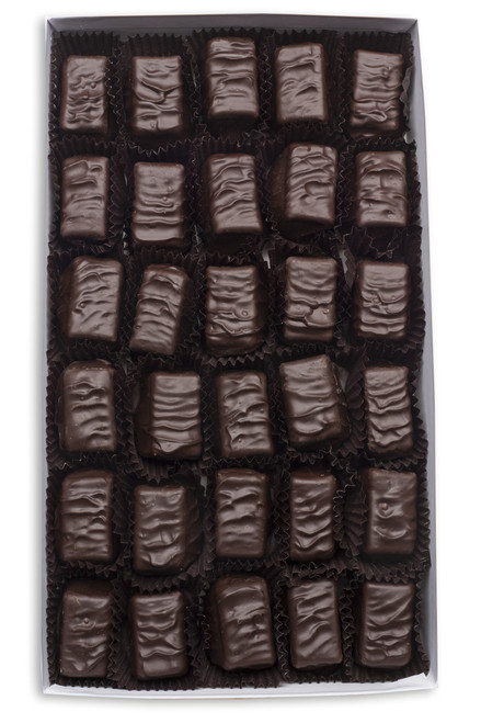 Smooth Dark Chocolate truffle center covered in our delicious Dark Chocolate.
