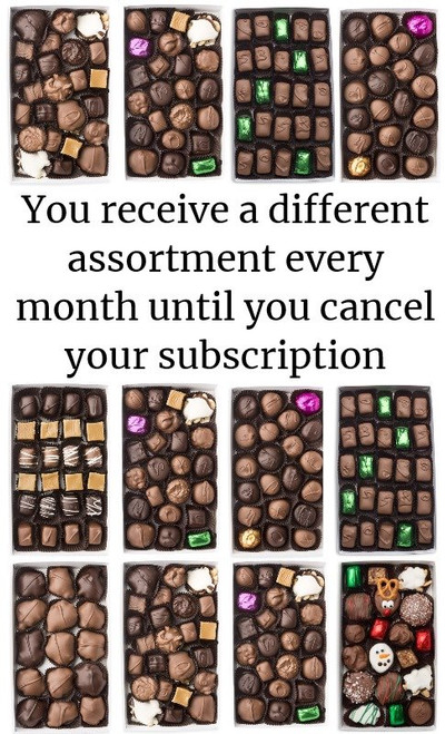 Subscription for Chocolate of the month - Assortment changes by the month