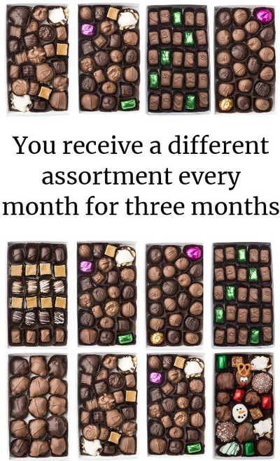 """Subscription - """"Chocolate of the month"""" for Three Months"""