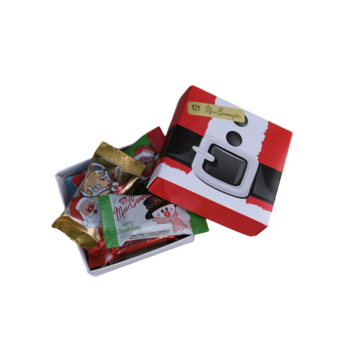 Holiday themed chocolate gift box - 6 pc  (Box will be Santa belt,  Santa Face or Bells)