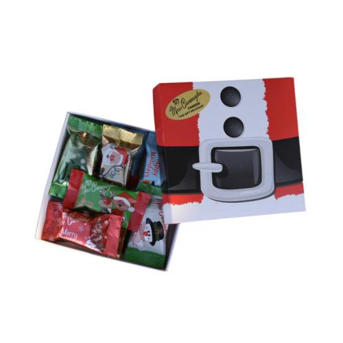 Holiday themed chocolate gift box - 12 pc (Box will be Santa belt,  Santa Face or Bells)