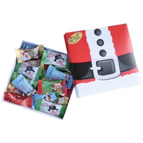 Holiday themed chocolate gift box - 24 pc (Box will be Santa belt,  Santa Face or Bells)