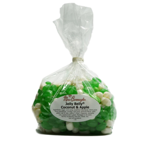 Green apple and coconut jelly belly