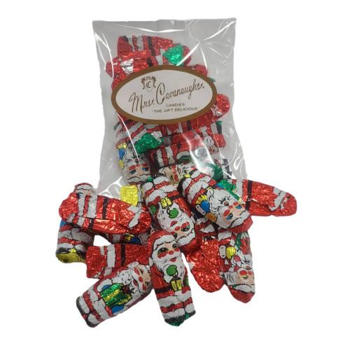 Foil wrapped chocolate Santas