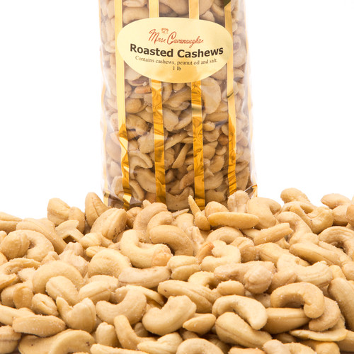 "The finest roasted whole cashews makes this gift box a perfect way to say ""I care"" or simply to just say ""Thanks."""
