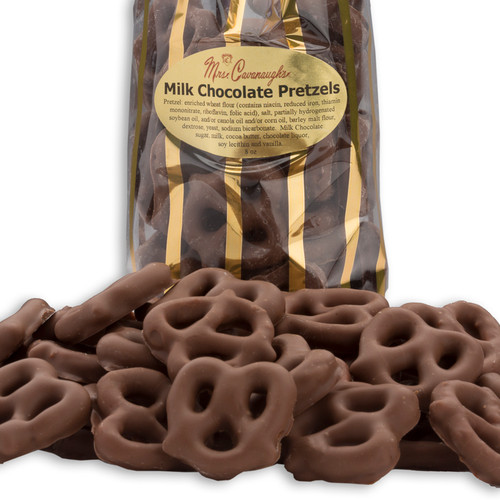 These white chocolate pretzels are a treat!  A hit at every party. Coated with the same chocolate we use for our gourmet chocolates. There's nothing better than a delicious blend of the smoothest chocolate and salty pretzels
