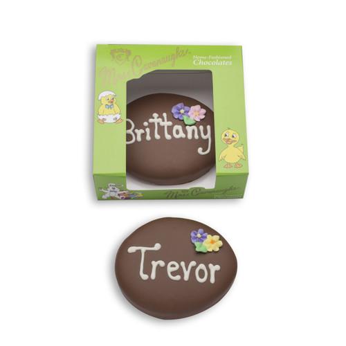 5 oz personalized chocolate egg