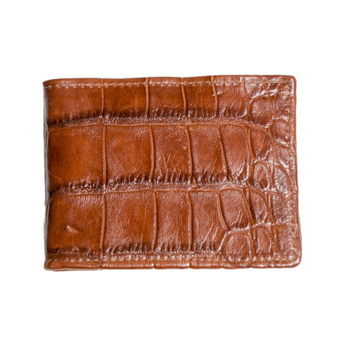 WALLET - ALLIGATOR SKIN - COGNAC - BI-FOLD - large tiles