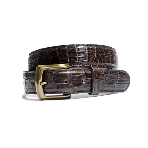 ALLIGATOR SKIN DRESS BELT - SPORT RUST - MATTE - 1 inch