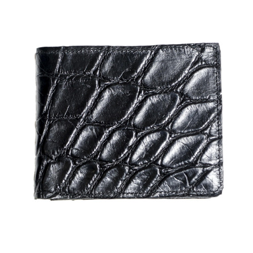 WALLET - ALLIGATOR SKIN - BLACK - BI-FOLD - mixed tiles