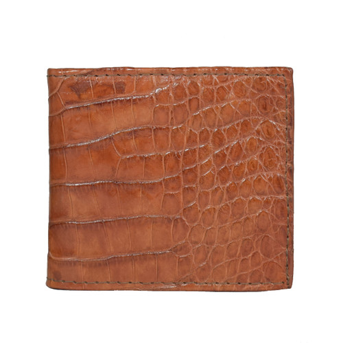 WALLET - ALLIGATOR SKIN - COGNAC - BI-FOLD