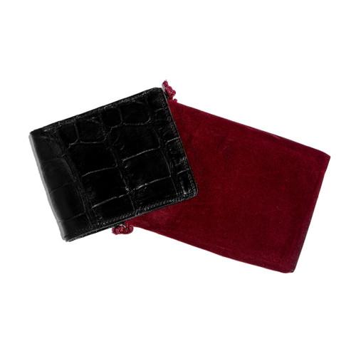 WALLET - ALLIGATOR SKIN - BLACK - BI-FOLD - medium tiles