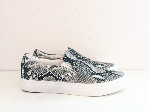 Custom Python Slip-on Vans