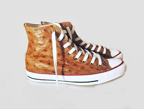 Custom Ostrich High Top Chucks