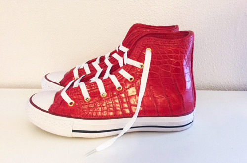 Custom Alligator High Top Chucks