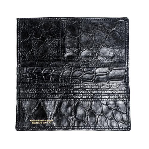 Black Alligator Long Wallet