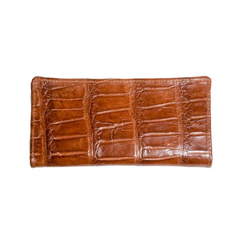 Cognac Alligator Long Wallet