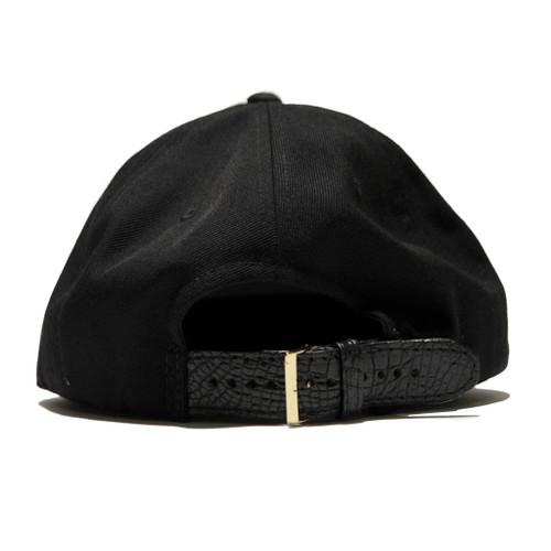GENUINE ALLIGATOR SKIN BRIM / HAT - BLACK