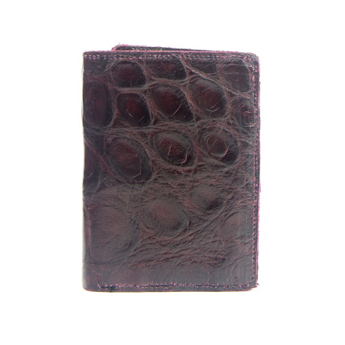 WALLET - ALLIGATOR SKIN - Burgundy - TRIFOLD