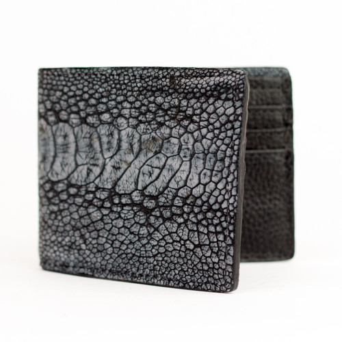 Ostrich Leg Wallet With Bison Leather Interior