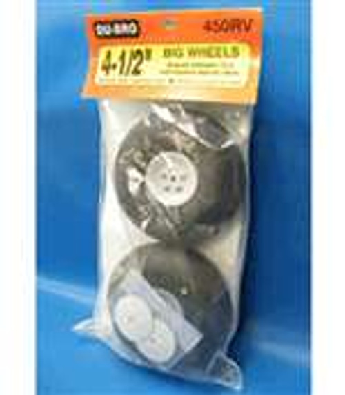 "Du-Bro 4-1/2"" Wheels (pair) Non-Treaded"