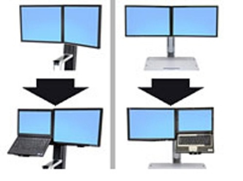 Ergotron WorkFit Conversion Kit: Dual to LCD & Laptop