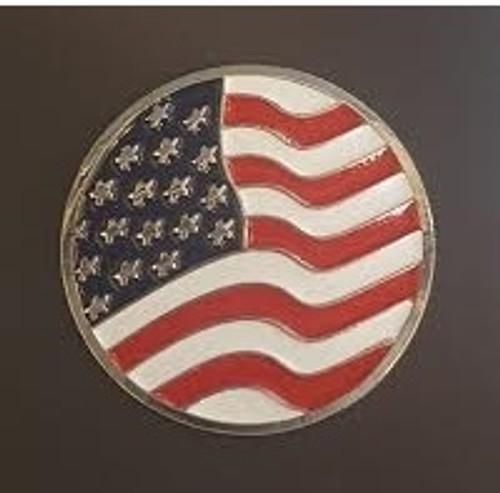 USA Waiving Flag Ball Marker
