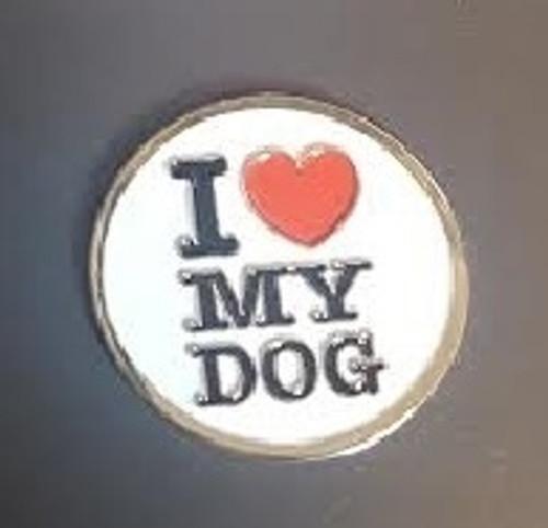 I Love My Dog Ball Marker