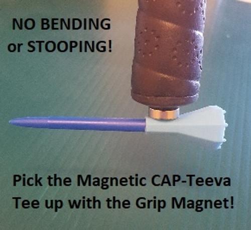Magnetic CAP-Teeva Tees - Buy 1 Get 1 Free - Virtually Unbreakable Plastic Golf Tees