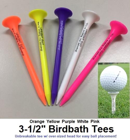 "Birdbath Tees - 3-1/2"" (5-pk. - White)"