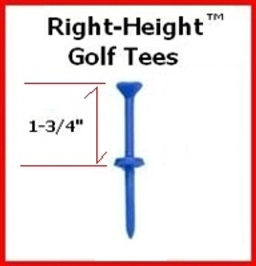 "Right-Height consistent-height Golf Tees (5) 1-3/4"" Tees"