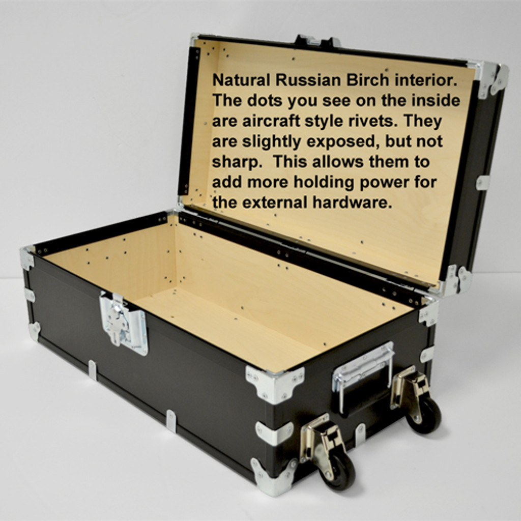 "Large Indestructo Travel Trunk - 32"" x 17"" x 13"" - Opened View"