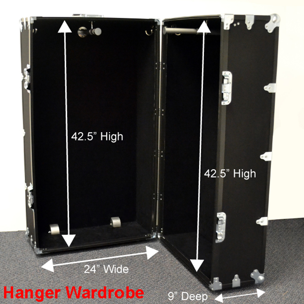 Hanger Wardrobe Trunk - Dimensions