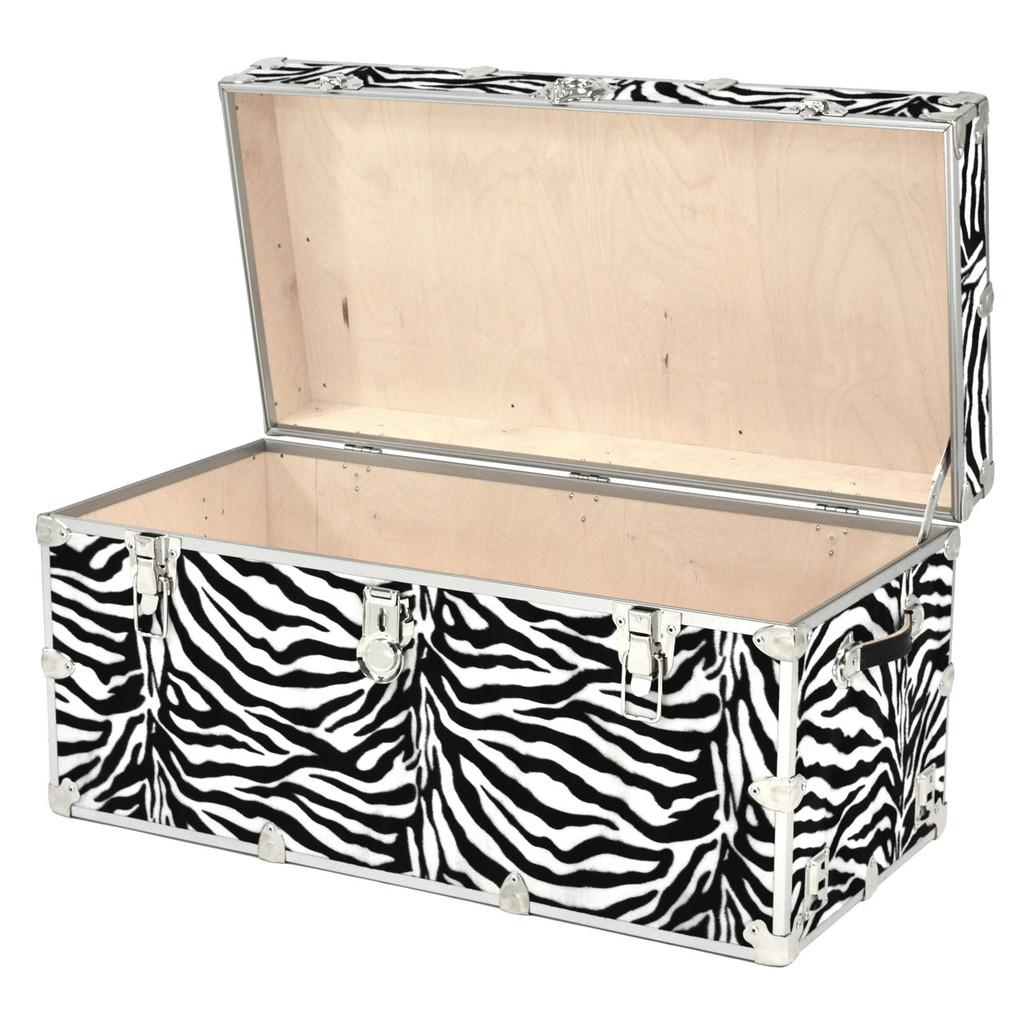 """Rhino XXL Zebra Trunk - 36"""" x 18"""" x 18"""" - Open View"""