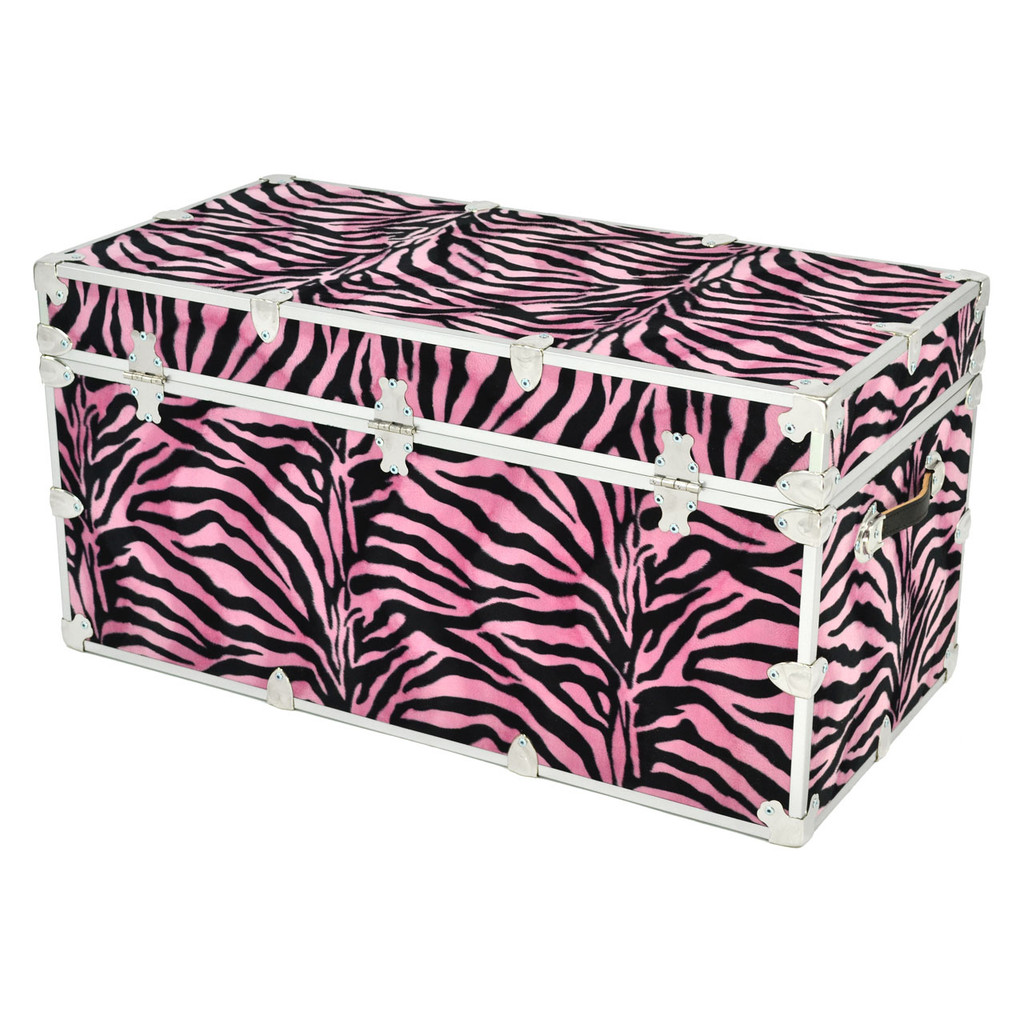 "Rhino Jumbo Zebra Trunk - 40"" x 22"" x 20"" - Back View"