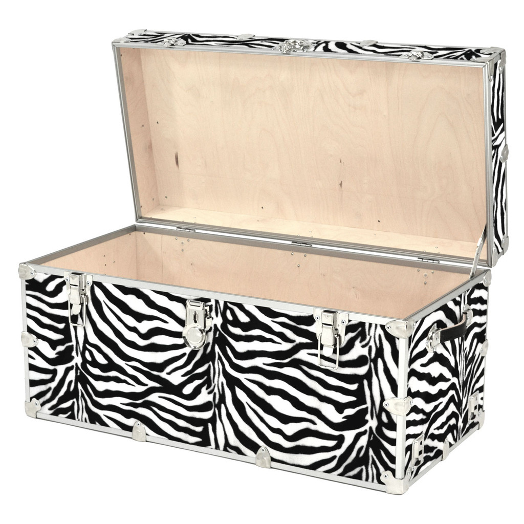"Rhino Jumbo Zebra Trunk - 40"" x 22"" x 20"" - Open View"