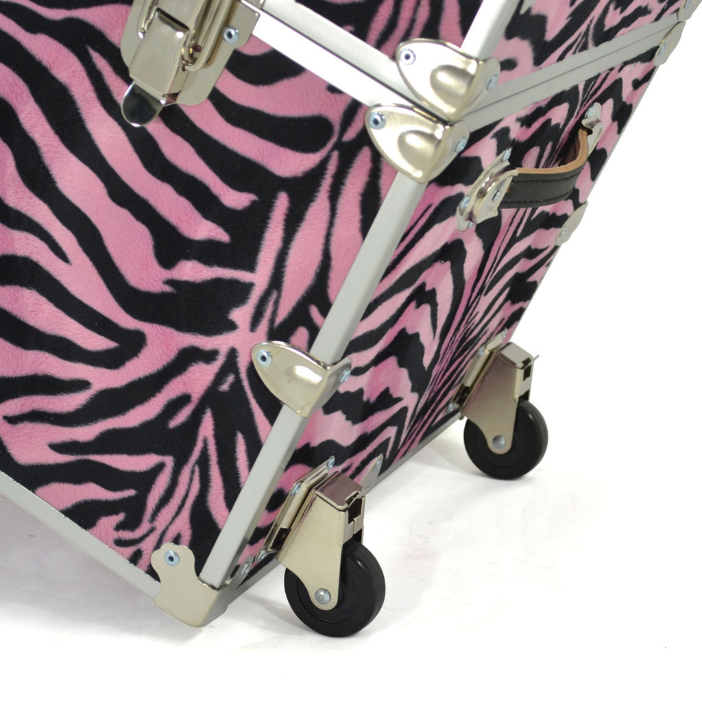 "Rhino Jumbo Zebra Trunk - 40"" x 22"" x 20"" - Wheeling Away"