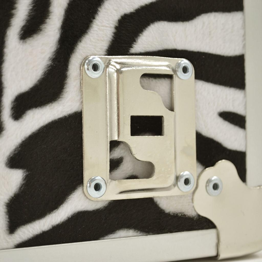 "Rhino Small Zebra Trunk - 30"" x 16"" x 12.5"" - Wheel Plate"