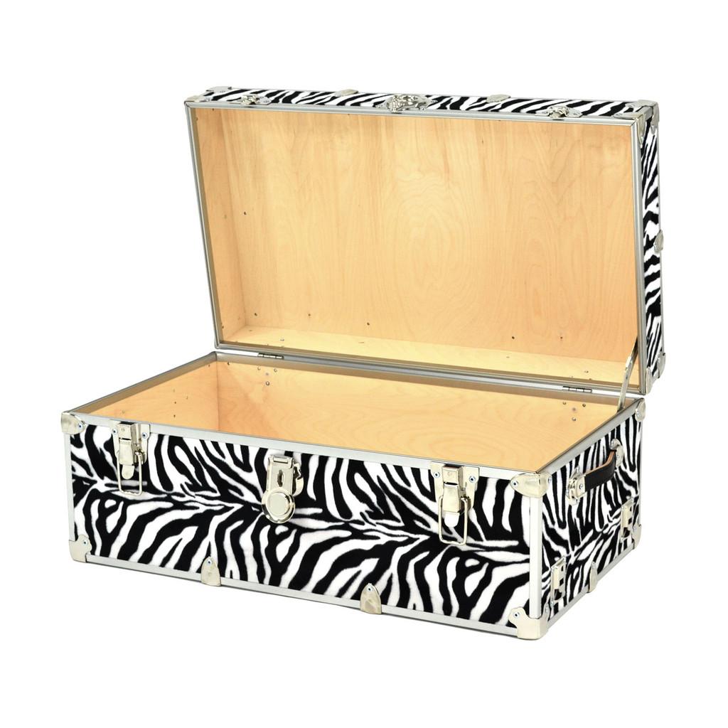 "Rhino Small Zebra Trunk - 30"" x 16"" x 12.5"" - Open View"