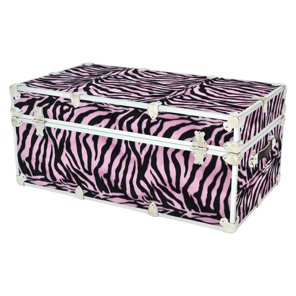 "Rhino Small Zebra Trunk - 30"" x 16"" x 12.5"" - Back View"