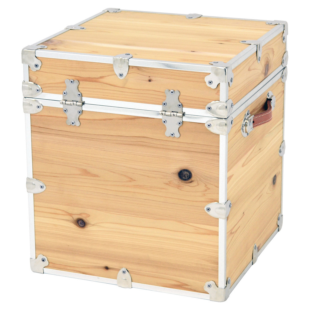 Rhino Cedar Cube Storage Trunk back.