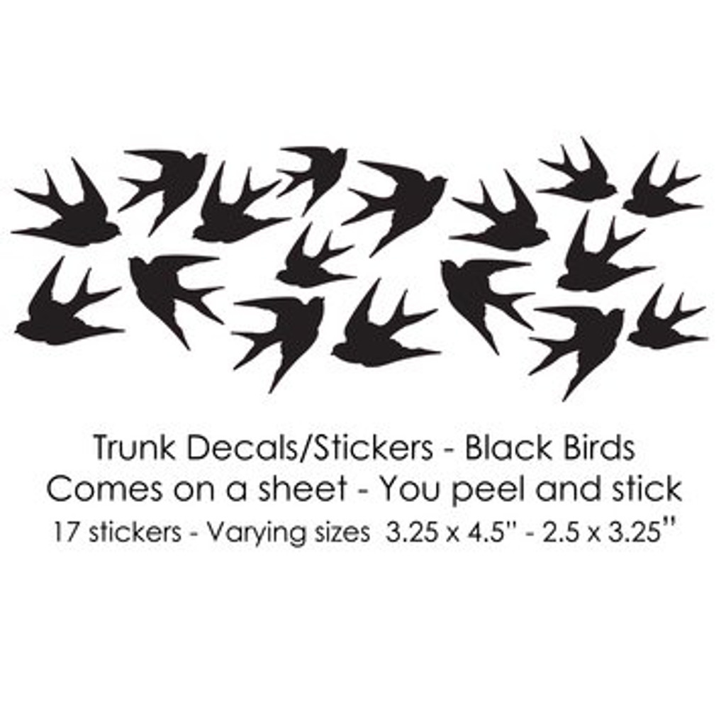 Black Birds Trunk Decals/Stickers