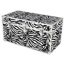 """Rhino XXL Zebra Trunk - 36"""" x 18"""" x 18"""" - Front View"""