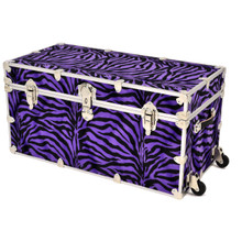 "Rhino Jumbo Zebra Trunk - 40"" x 22"" x 20"" - Front View with Wheels"