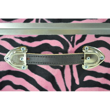 "Rhino XL Zebra Trunk - 34"" x 20"" x 15"" - Leather Handle"
