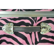 "Rhino Zebra Cube - 18"" x 18"" x 20"" - Leather Handle"