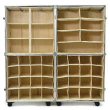 Rhino Urban Wardrobe inserts. Three shelf insert (top left), four shelf insert (top right), shoe inserts (bottom) empty