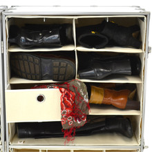 Rhino Urban Wardrobe four shelf inside view with shoes